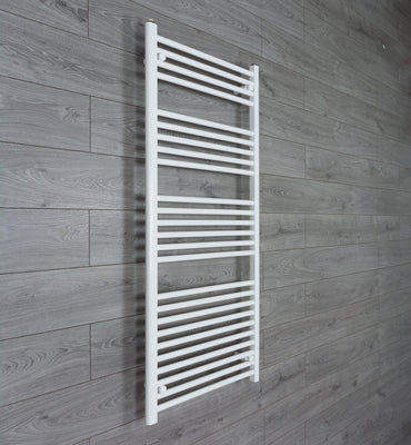 650mm Wide 1400mm High Flat White Heated Towel Rail Radiator HTR,Towel Rail Only
