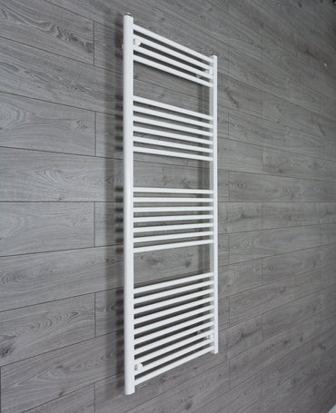 650mm Wide 1600mm High Flat White Heated Towel Rail Radiator HTR,Towel Rail Only