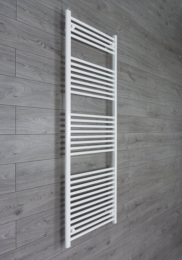 650mm Wide 1800mm High Flat White Heated Towel Rail Radiator HTR,Towel Rail Only