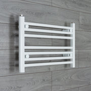 700mm Wide 400mm High Flat White Heated Towel Rail Radiator HTR,Towel Rail Only