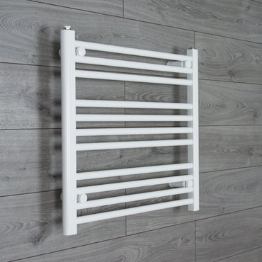 650mm Wide 600mm High Flat White Heated Towel Rail Radiator HTR,Towel Rail Only