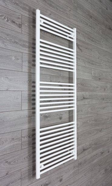 700mm Wide 1700mm High Flat White Heated Towel Rail Radiator HTR,Towel Rail Only