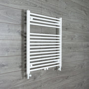 740mm Wide 775mm High Straight White Heated Towel Rail Radiator HTR,With Straight Valve