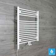 740mm Wide 775mm High Straight White Heated Towel Rail Radiator HTR