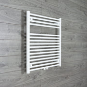 740mm Wide 775mm High Straight White Heated Towel Rail Radiator HTR,Towel Rail Only