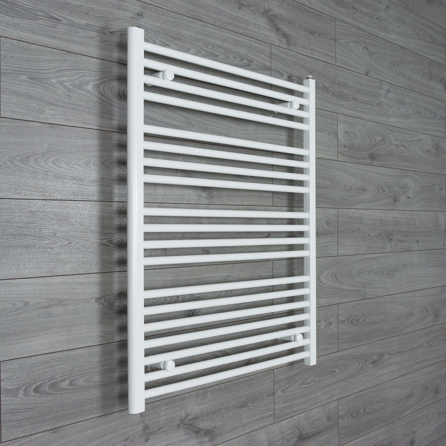 800mm Wide 1000mm High Flat WHITE Pre-Filled Electric Heated Towel Rail Radiator HTR