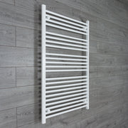 800mm Wide 1200mm High Flat White Heated Towel Rail Radiator HTR,Towel Rail Only