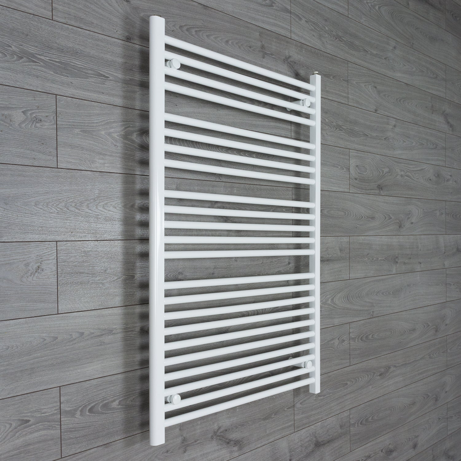 750mm Wide 1100mm High Flat WHITE Pre-Filled Electric Heated Towel Rail Radiator HTR
