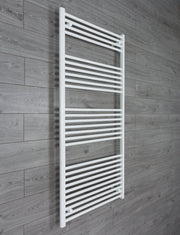 800mm Wide 1600mm High Flat White Heated Towel Rail Radiator HTR,Towel Rail Only