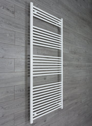 850mm Wide 1800mm High Flat White Heated Towel Rail Radiator HTR,Towel Rail Only