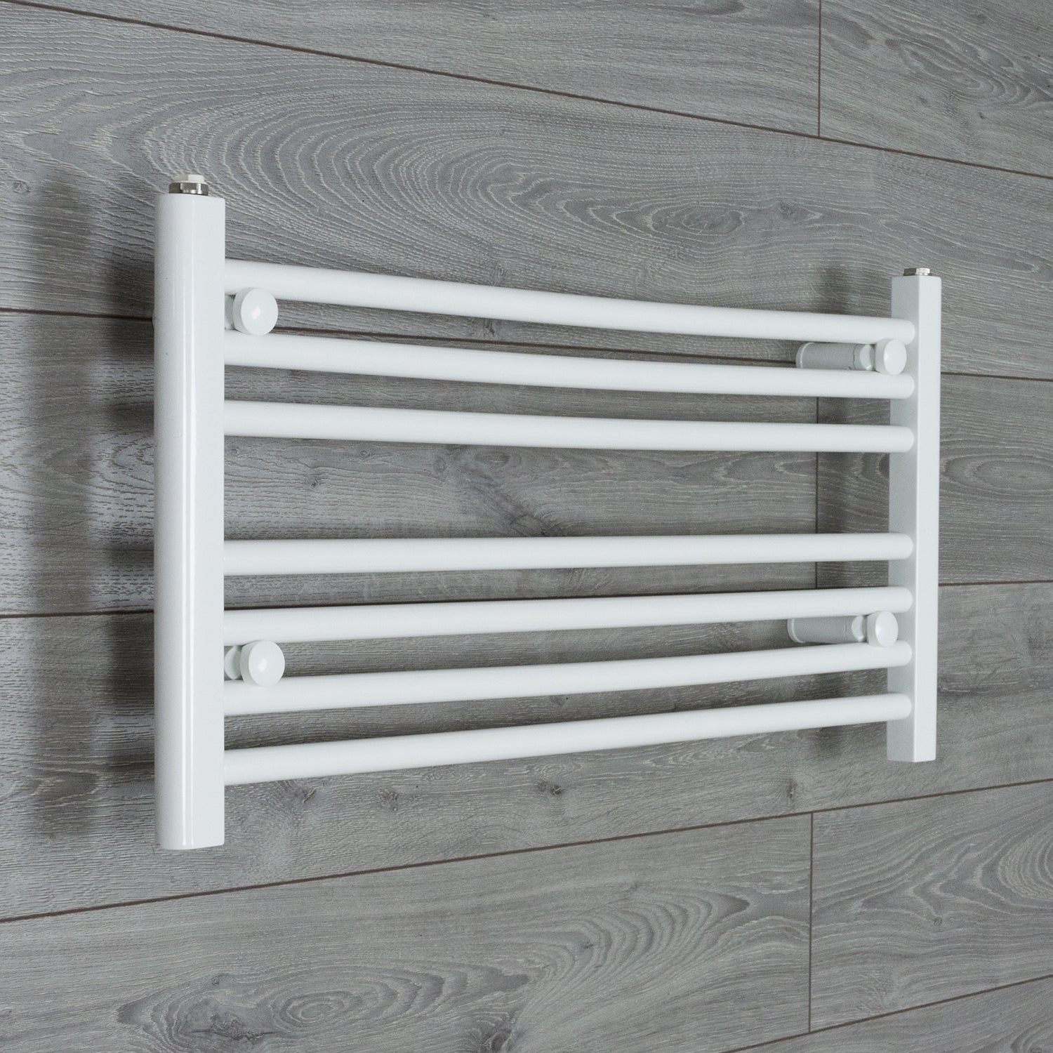 700mm Wide 400mm High Flat WHITE Pre-Filled Electric Heated Towel Rail Radiator HTR