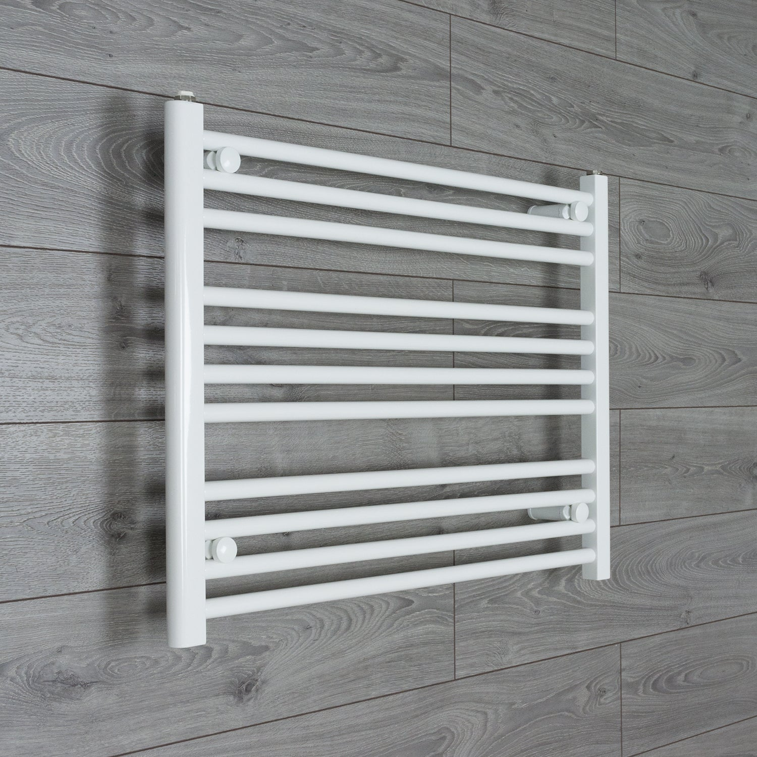 750mm Wide 600mm High Flat WHITE Pre-Filled Electric Heated Towel Rail Radiator HTR