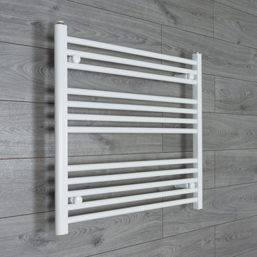 800mm Wide 700mm High Flat White Heated Towel Rail Radiator HTR,Towel Rail Only