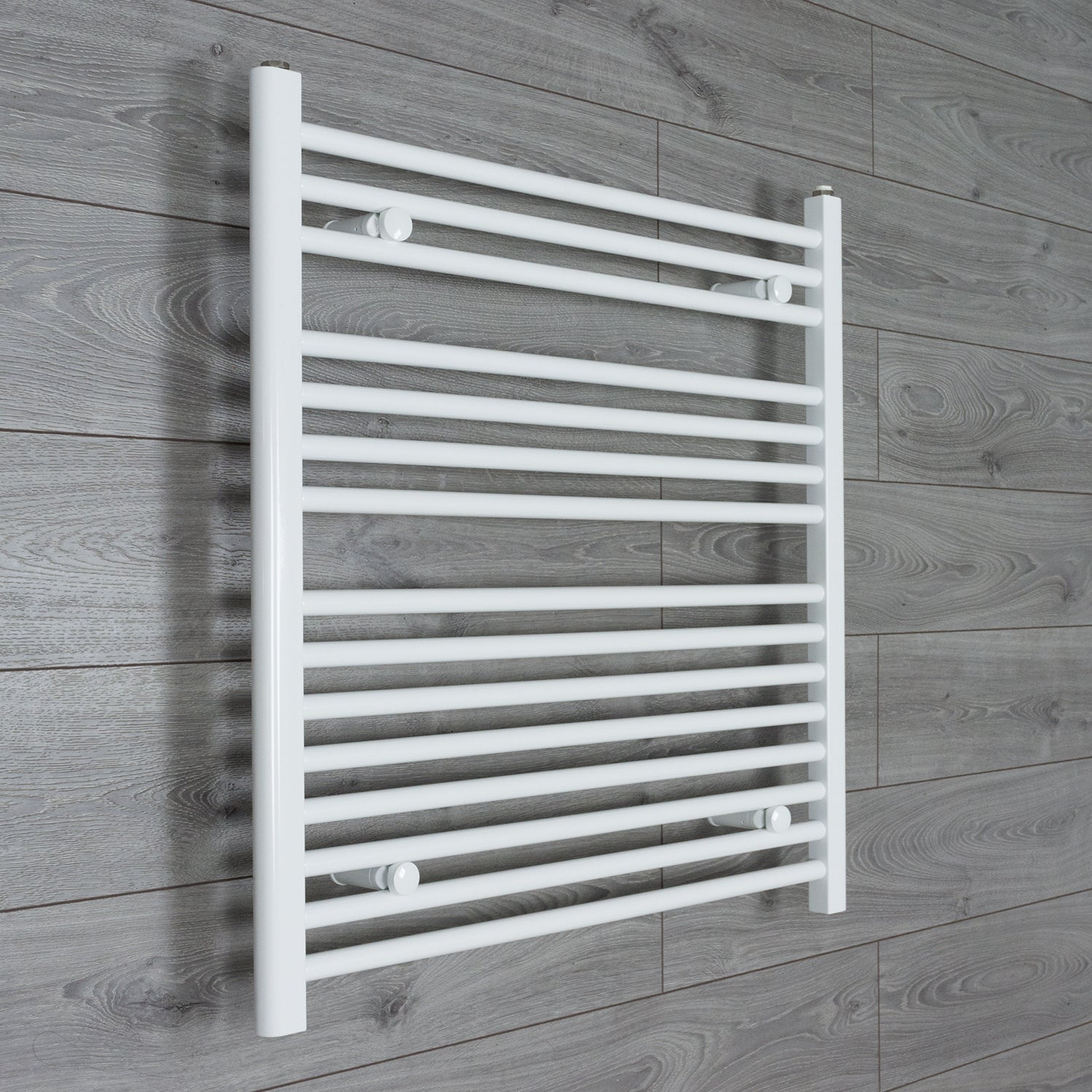700mm Wide 800mm High Flat WHITE Pre-Filled Electric Heated Towel Rail Radiator HTR