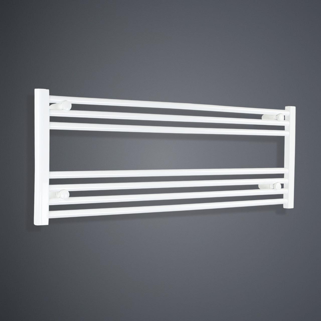 1300mm Wide 400mm High Flat White Heated Towel Rail Radiator HTR,Towel Rail Only