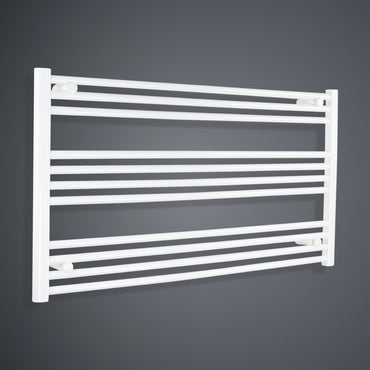 1300mm Wide 600mm High Flat White Heated Towel Rail Radiator HTR,Towel Rail Only