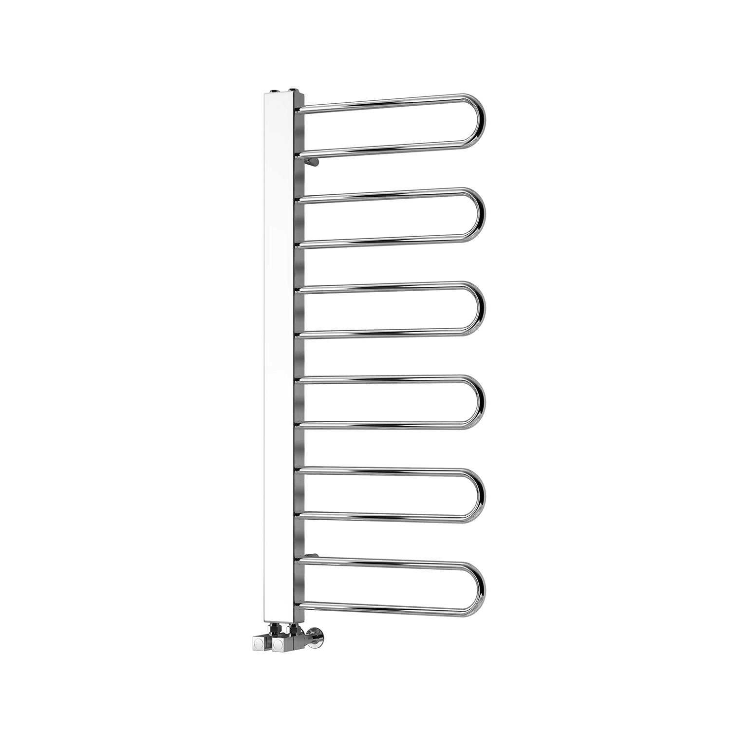 Reina Designer Larino Vertical Chrome Heated Towel Rail Steel Radiator