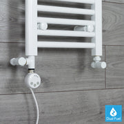 MEG White Thermostatic Heating Element Dual Fuel Kit for Heated Towel Rail Radiator