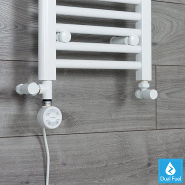 MOA White Thermostatic Heating Element Dual Fuel Kit Heated Towel Rail Radiator