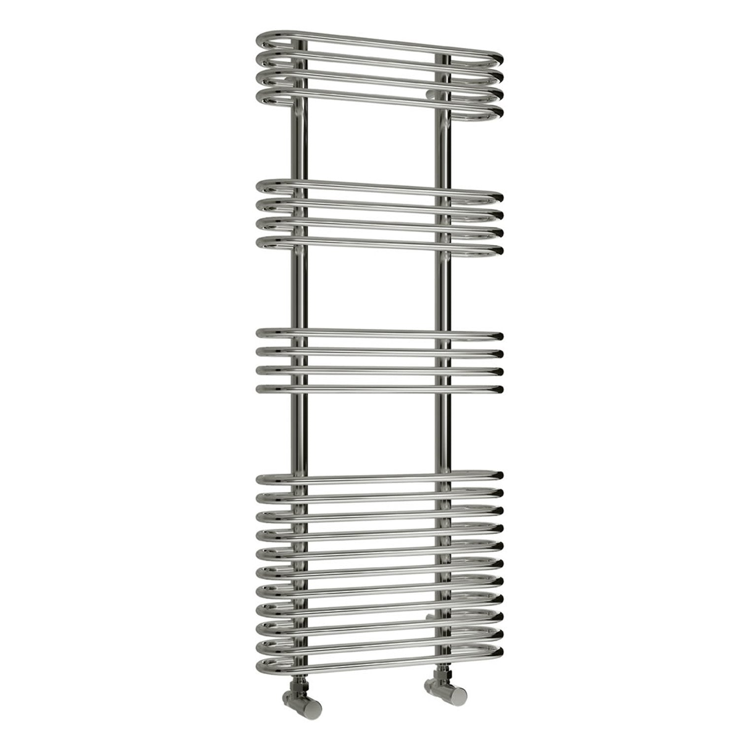 Reina Designer Mirus Vertical Chrome Heated Towel Rail Steel Radiator