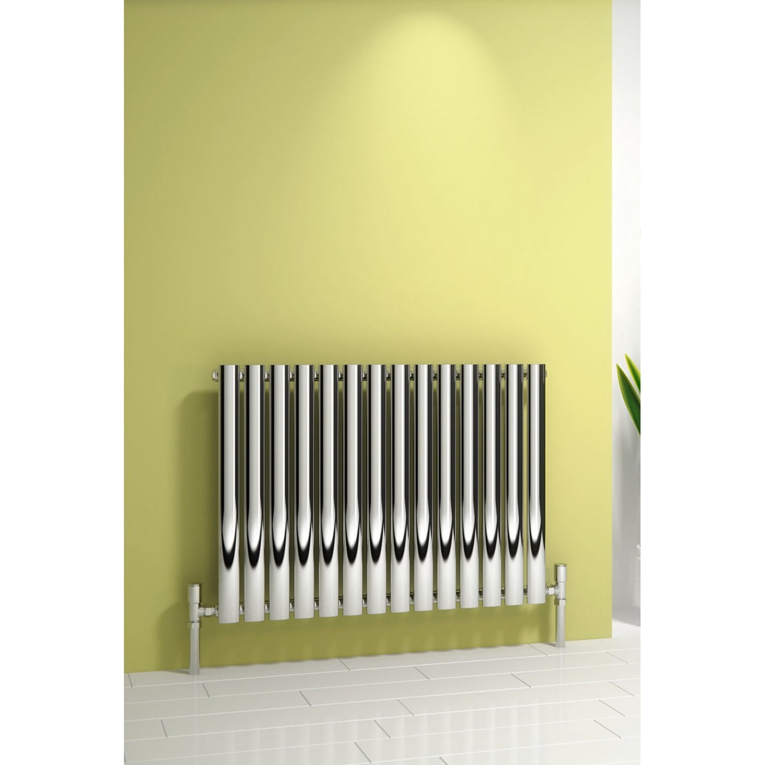 Reina Designer Nerox Horizontal Heated Towel Rail Stainless Steel Radiator