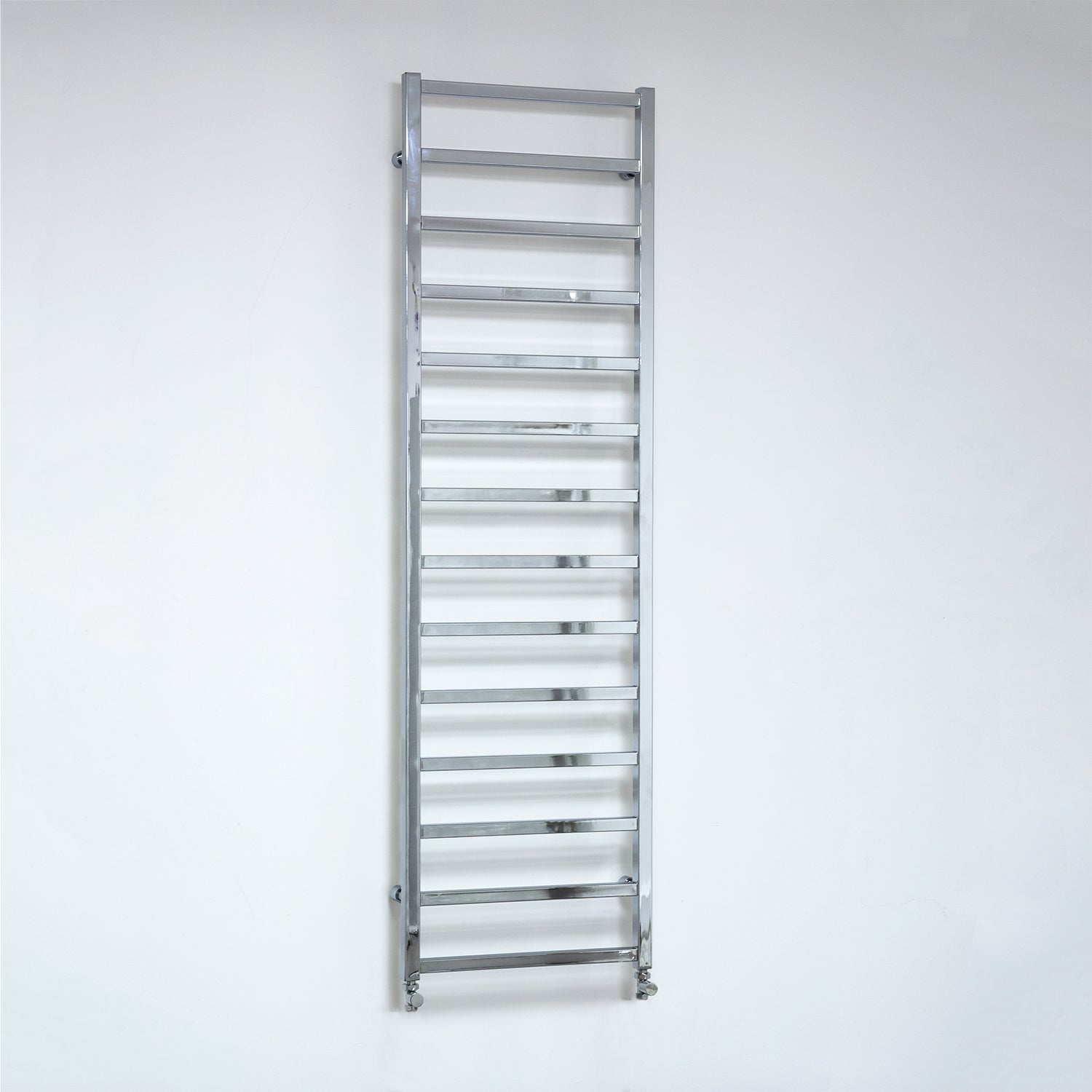 500mm Wide 1700mm High Flat Chrome Square Tube Heated Towel Rail Radiator,Towel Rail Only