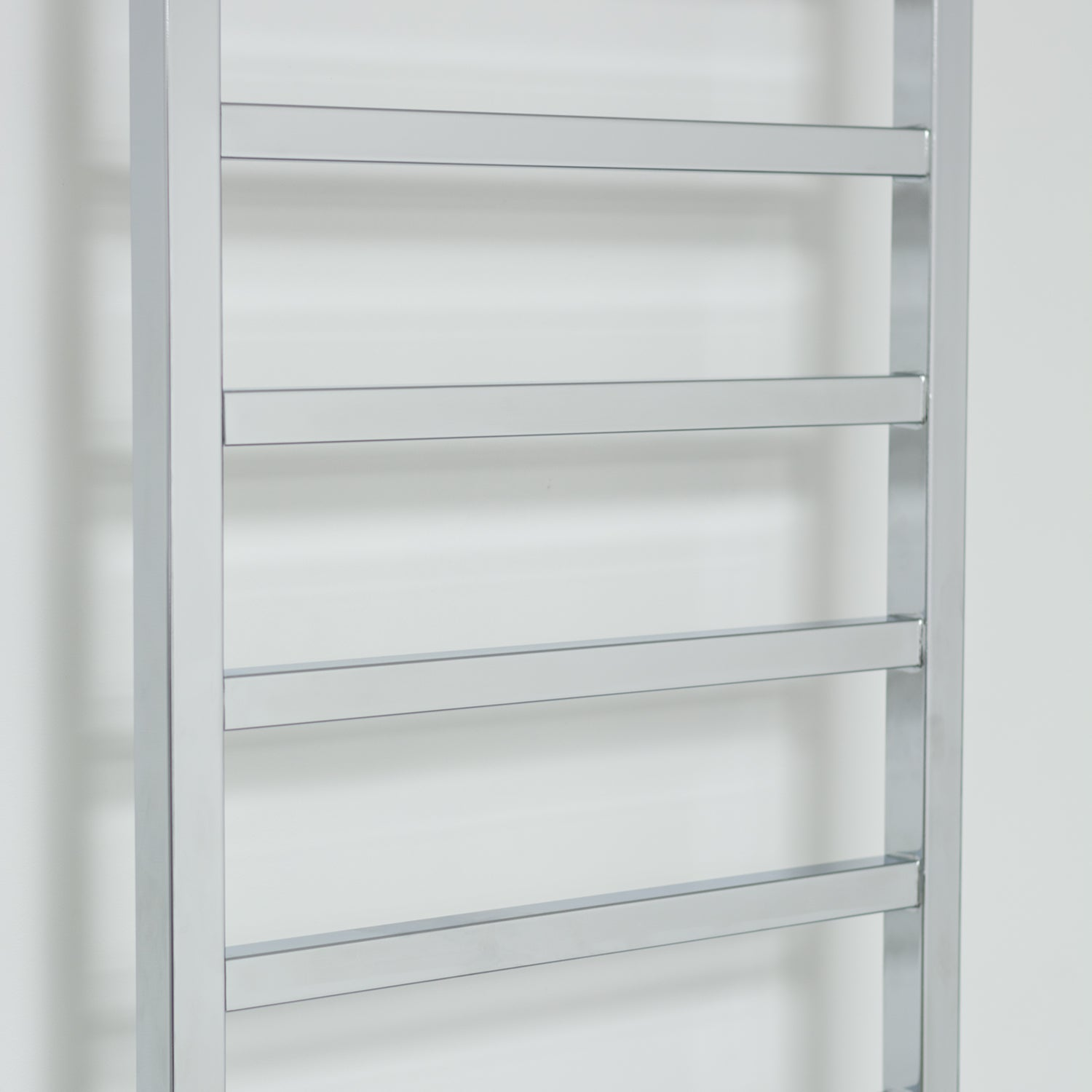 500mm Wide 1700mm High Flat Chrome Square Tube Heated Towel Rail Radiator