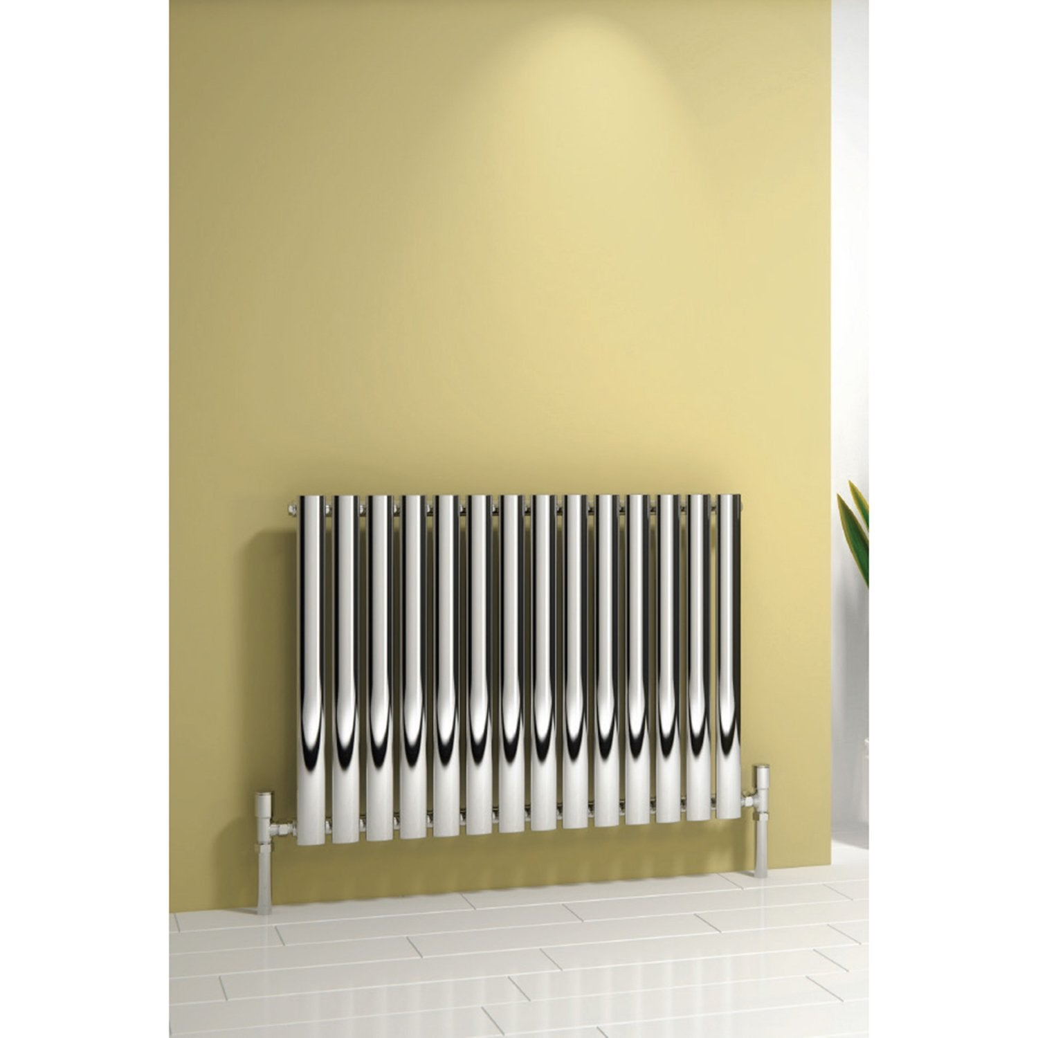 Reina Designer Chrome Neva Horizontal Steel Radiator