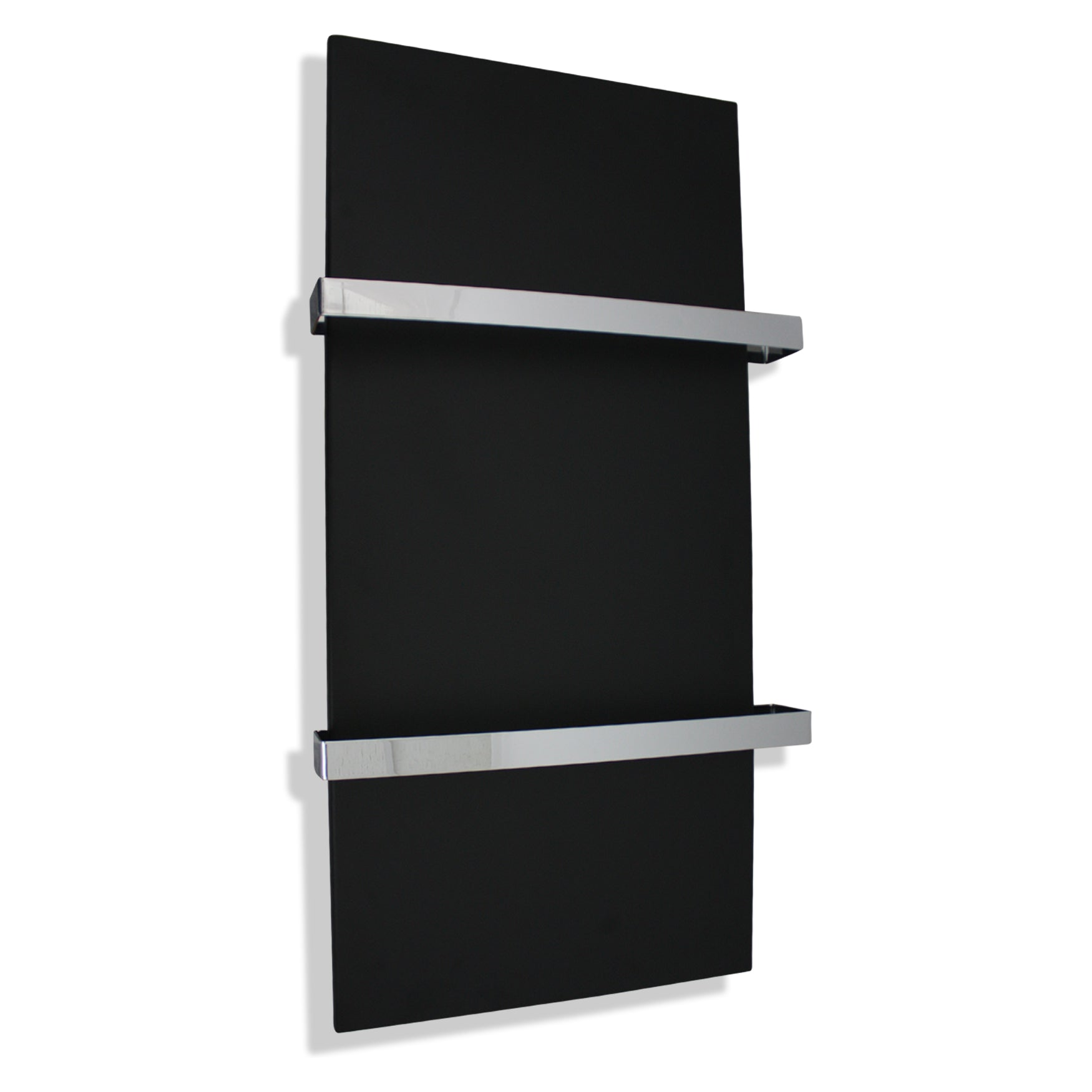 500mm Wide Plate Vertical Style White or Black Designer Heated Towel Rail Radiator HTR,BLACK / 1000mm