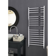 600mm Wide 1200mm High Stainless Steel Polished Heated Flat Towel Rail Radiator Central heating