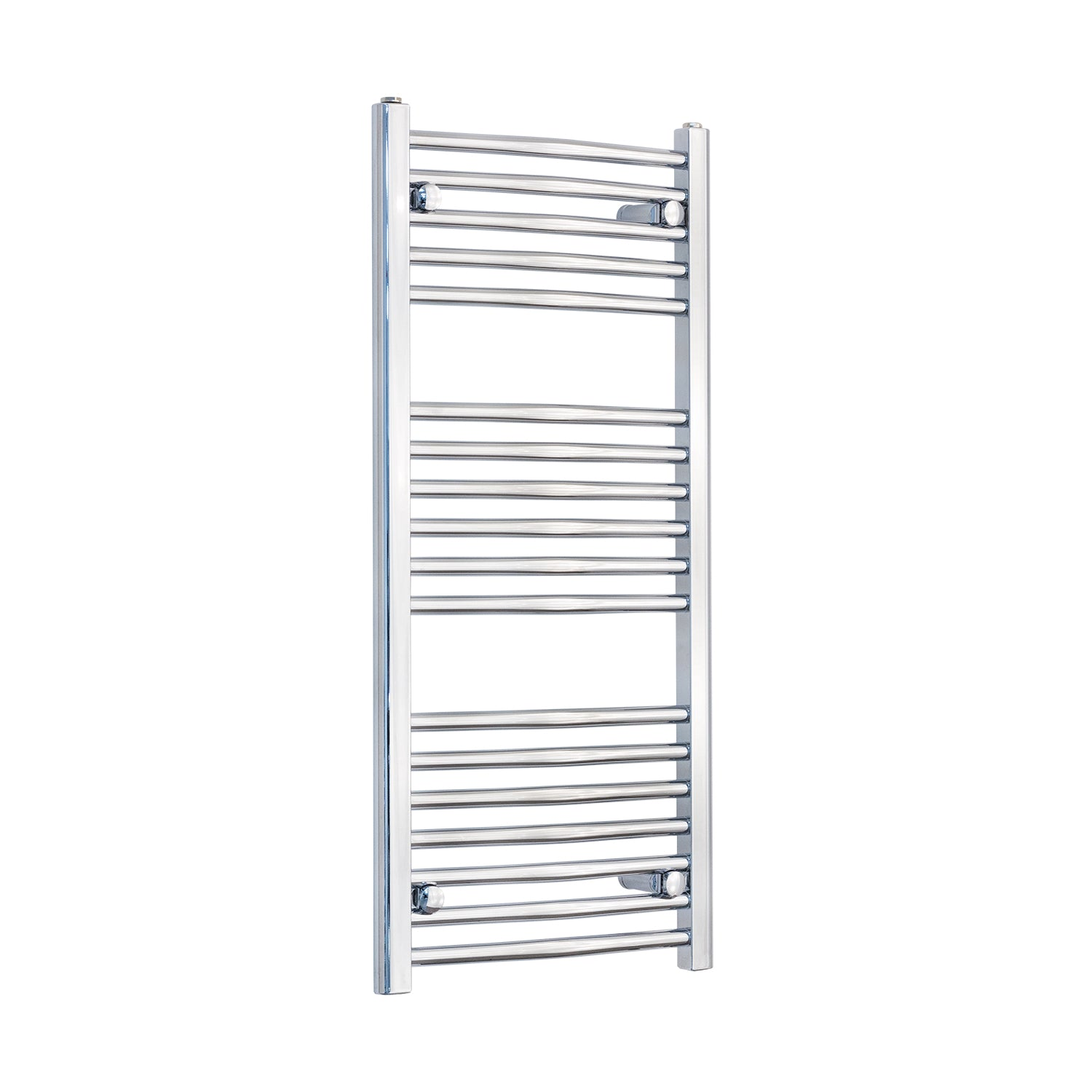 450mm Wide 1000mm High Curved Chrome Heated Towel Rail Radiator HTR,With Straight Valve