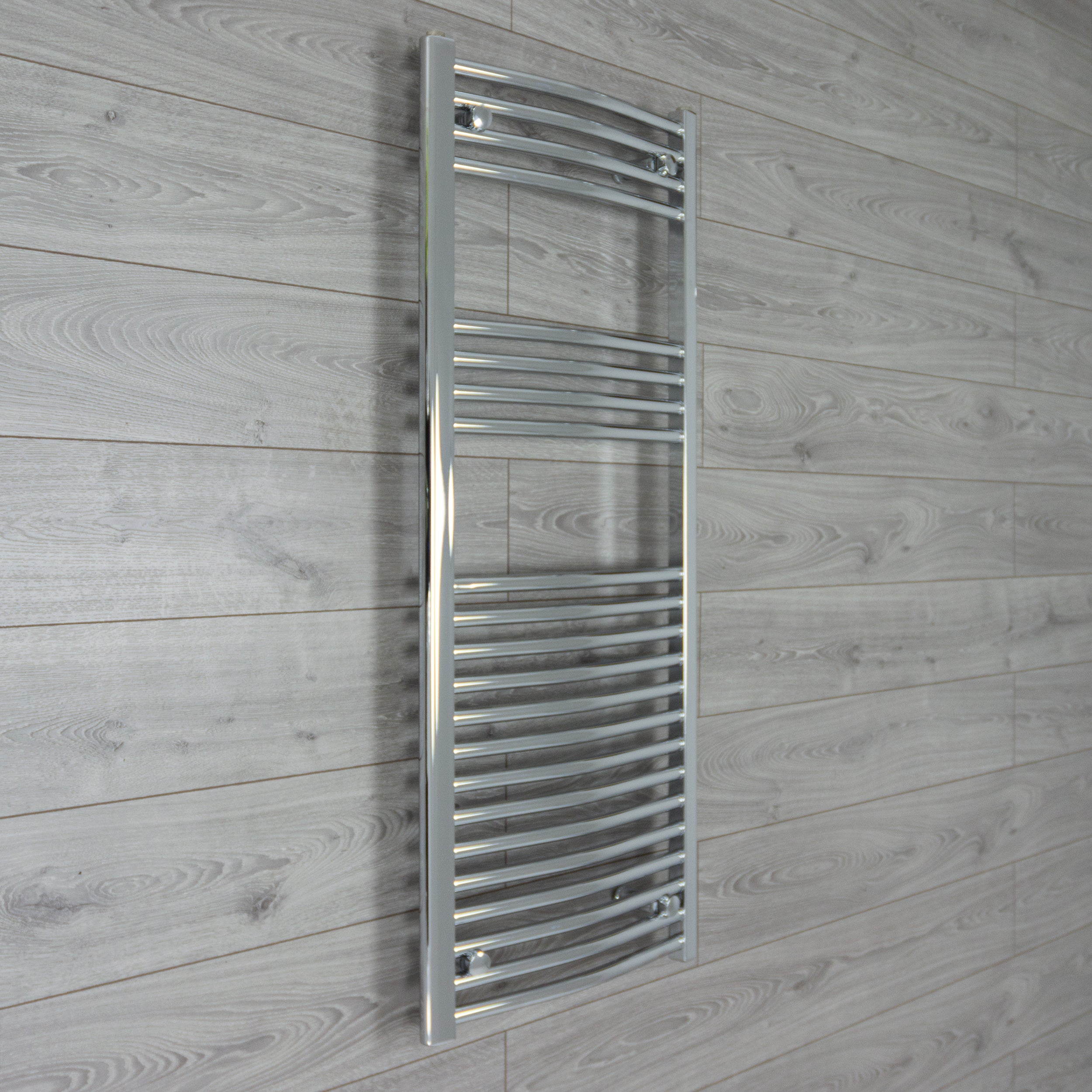 500mm Wide 1200mm High Curved Chrome Heated Towel Rail Radiator HTR,Towel Rail Only