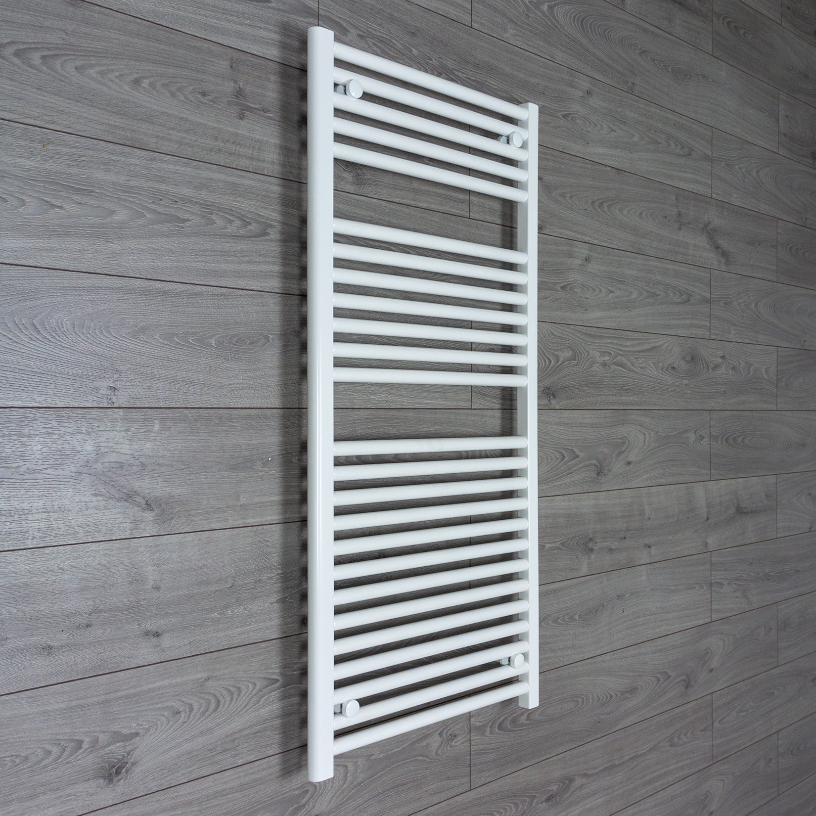 500mm Wide 1200mm High Flat White Heated Towel Rail Radiator Gas or Electric,Towel Rail Only