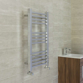 450mm Wide 800mm High SQUARE TUBE Chrome Heated Towel Rail Radiator HTR,Towel Rail Only