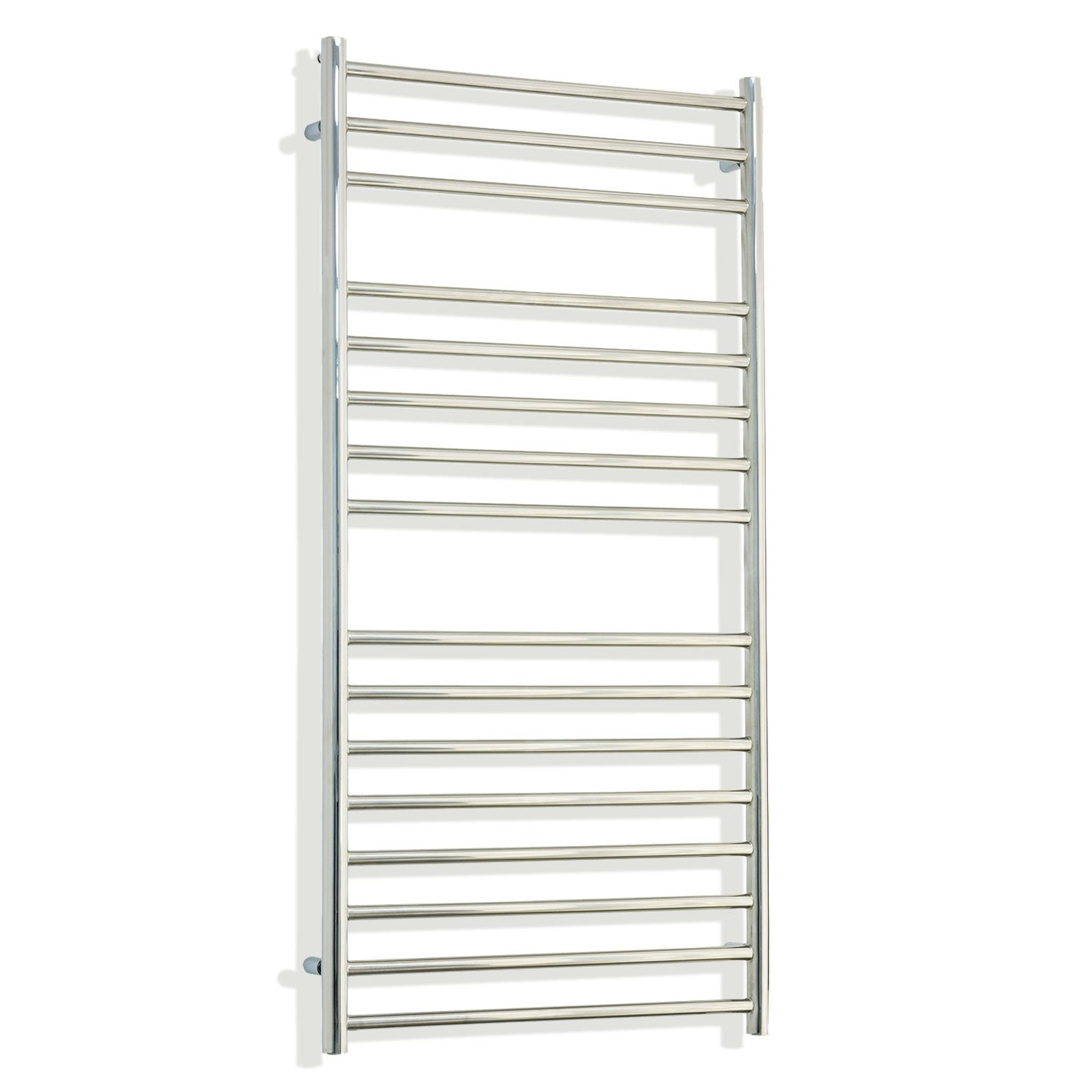 600mm Wide 1200mm High Stainless Steel Polished Heated Flat Towel Rail Radiator Central heating,Without Valves