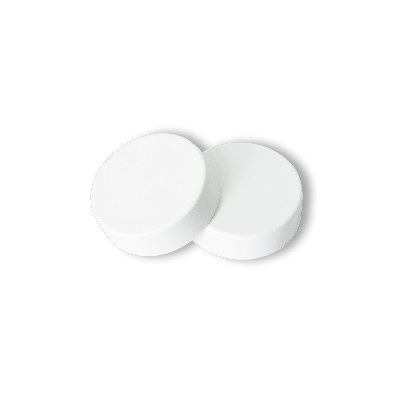 Pair of White Cover Caps for Heated Towel Rail
