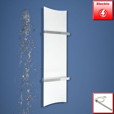300mm Wide 1200mm High White, Black or Red Designer Heated Towel Rail Radiator Bone Style Electric HTR,WHITE