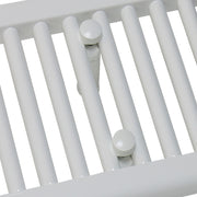 800mm Wide 900mm High Flat White Heated Towel Rail Radiator HTR
