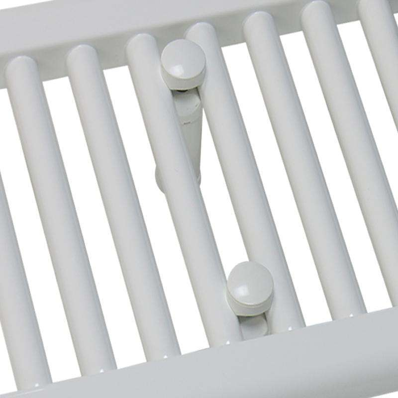 600mm Wide 400mm High Flat White Heated Towel Rail Radiator HTR