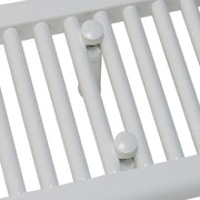 600mm Wide 600mm High Flat WHITE Pre-Filled Electric Heated Towel Rail Radiator HTR