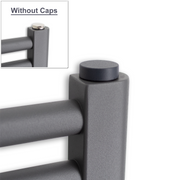 Pair of Anthracite Cover Caps for Heated Towel Rail