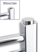 Pair of Chrome Cover Caps for Heated Towel Rail