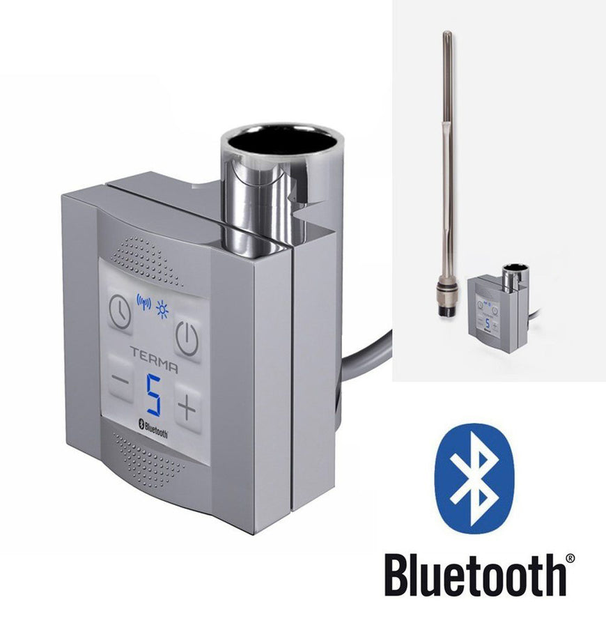 KTX4 Bluetooth Chrome Thermostatic Heating Element 7/24 Programable - For Electric Heated Towel Rail Radiator