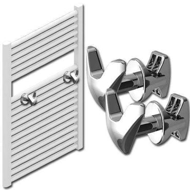 V Shape Peg Extra Hanger Hooks For Heated Towel Rail Radiators White / Chrome,Chrome