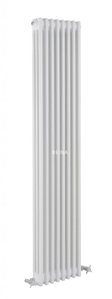 Reina Designer White Colona Traditional Column Vertical Radiator