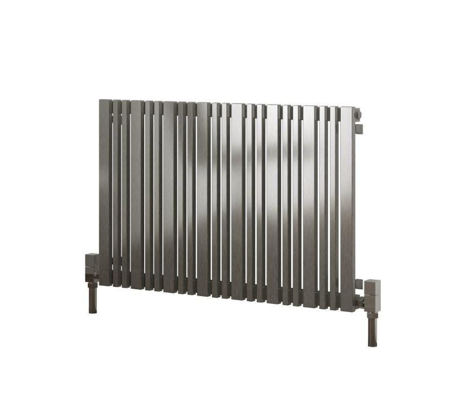 Reina Designer Versa Horizontal Heated Towel Rail Stainless Steel Radiator