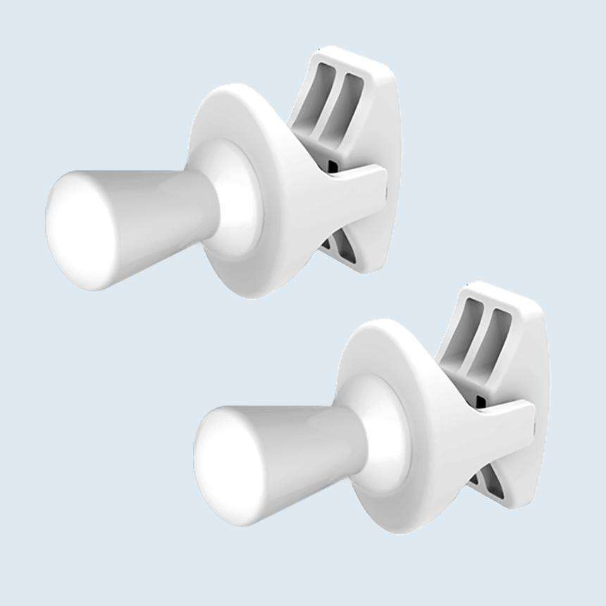 Thin Shape Peg Extra Hanger Hooks For Heated Towel Rail Radiators White / Chrome