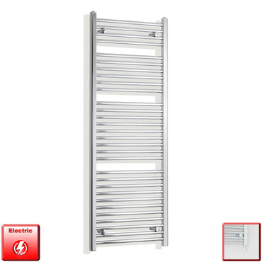 450mm Wide 1500mm High Flat Or Curved Chrome Pre-Filled Electric Heated Towel Rail Radiator HTR,Single Heat Element / Straight