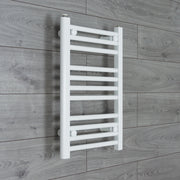 450mm Wide 600mm High Flat White Heated Towel Rail Radiator HTR,Towel Rail Only