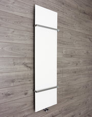 450mm Wide INNO Vertical Style White or Black Designer Heated Towel Rail Radiator HTR,WHITE / 1600mm